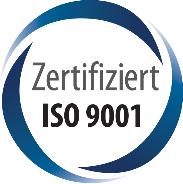 NiSi ist ISO zertifiziert - Siegel